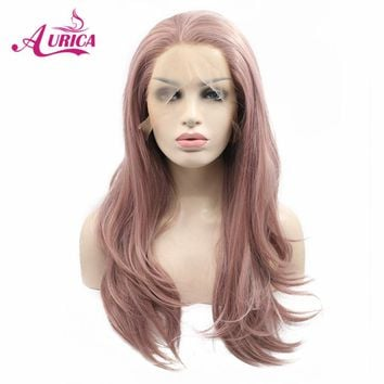 Aurica Dark Pink Heat Safe Synthetic Hair Lace Front Wig