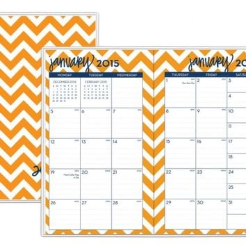 15/16 Dabney Lee Chevron Monthly Planner 3.625 x 6.125