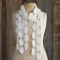 Scarves  for  Hair:  Cream  Bohemian  Scarf  |  Natural  Life
