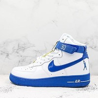 Nike Air Force 1 High Sheed Rude Awakening Rasheed Wallace White Royal Blue Sneakers - Best Deal Online
