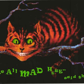 Alice in Wonderland Cheshire Cat Poster 24x36