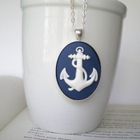 Anchor Cameo Necklace