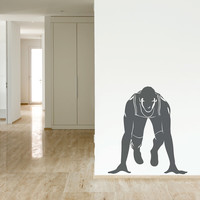 Runner at Starting Block Wall Decal