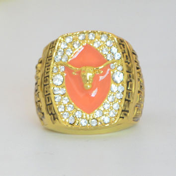 2005 Texas Longhorn Rose Bowl Championship Ring solid Men Christmas Fan Gift  BC1369