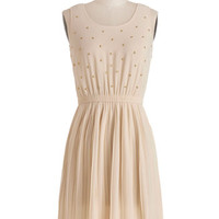 ModCloth Mid-length Sleeveless A-line Star-Studded Cast Dress