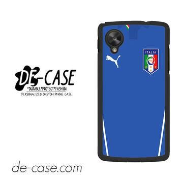 Italy Soccer Jersey For Google Nexus 5 Case Phone Case Gift Present YO