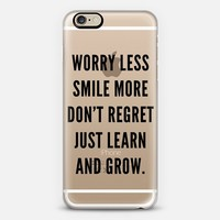 Learn & Grow - Transparent (Black) iPhone 6 case by MOTIVE8CO. | Casetify