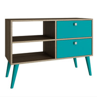 Accentuations by Manhattan Comfort Practical Dalarna TV Stand with 2 Open Shelves and 2- Drawers