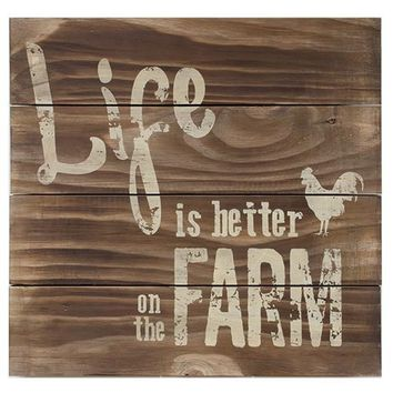 Better on the Farm Slat Sign - *FREE SHIPPING*