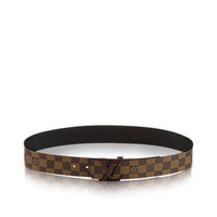 Products by Louis Vuitton: LV Initials Damier Ebene Belt