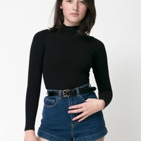 Dark Wash High-Waist Jean Cuff Short