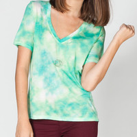Hurley Solid Cloud V Womens Tee Seafoam  In Sizes