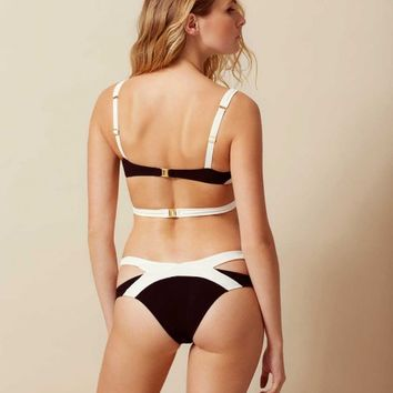 Mazzy Bikini Bottom White And Black