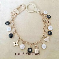 LV Louis Vuitton Fashion Women Colorful Bracelet Hand Catenary I12695-1