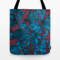 Roses Are Blue Tote Bag by Shawn King