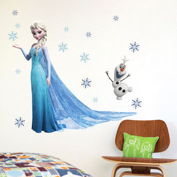 Similar to Fathead Elsa Frozen Snow Queen And Olaf Wallpaper Wall Cling poster Decoration Decal Kids Girls Boys Room