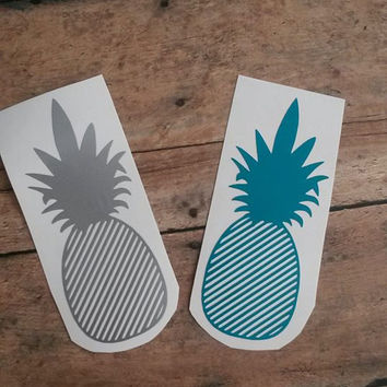 Pineapple Decal | Pineapple Monogram | Pinapple | Yeti Decal | Cute Decal | Vinyl Decal