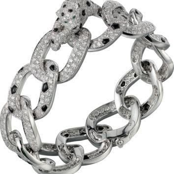 Panth¡§¡§re de Cartier bracelet: Bracelet - 950?? platinum, 861 brilliant-cut diamonds t