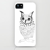 Polka Dotted Owl iPhone & iPod Case by Robin Maria Pedrero