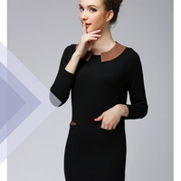 Women : Long Sleeved Mini Dress with Pockets YRB0561