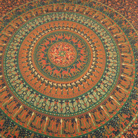 Mandala Hippie Hippy Wall Hanging Indian Tapestry Throw Bedspread Bed Decor Sheet Ethnic Decorative Art