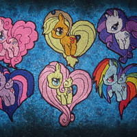 Mane 6 My Little  Pony Patch Set  Iron on Patch by DrChameleon
