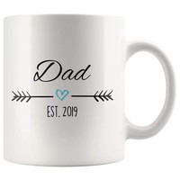 The search is over. - Dad Est. 2019 Coffee Mug | New Dad Gift