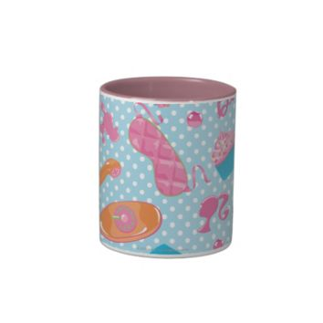 Barbie Sweets and Phones pattern Two-Tone Coffee Mug