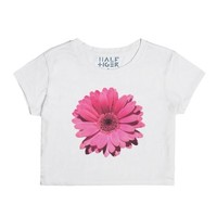 Pink Flower-Female Snow T-Shirt