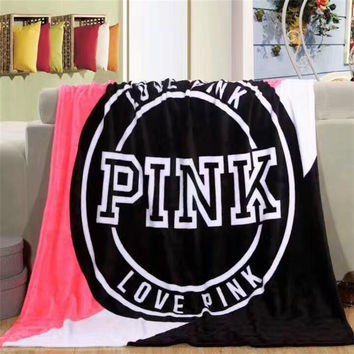 Romanee New arrive Fashion Pink Blankets secret Coral Fleece Fabric Bedding set Bedspreads Throw to Bed/Sofa/Car new year Gift