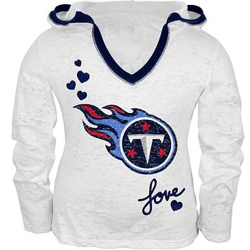 Tennessee Titans - Girls Juvy Burnout Hooded Long Sleeve T-Shirt