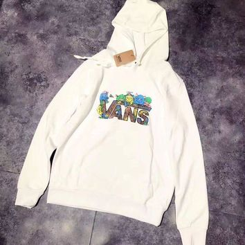 LMFUP0 VANS Woman Men Print Fashion Hoodie Top Sweater Pullover
