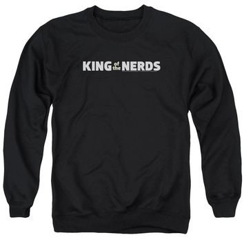 King Of The Nerds - Horizontal Logo Adult Crewneck Sweatshirt Officially Licensed Apparel