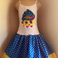 Shopkins Queen Cupcake Appliqued T Shirt Dress Available from 12m to 14/16