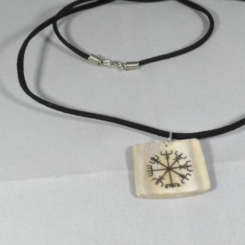 Norse necklace Vegvisir protection Celtic