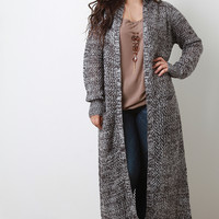 Floor Swept Knitted Cardigan