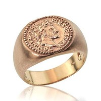 Gold Ring Antique Coin