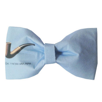 The Fault In Our Stars by John Green Inspired Hazel Grace This Is Not A Pipe 'Ceci n'est pas une pipe' Hair Bow or Bow Tie Geeky Fabric Bow