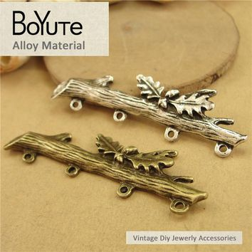 BoYuTe (30 Pieces/Lot) 16*50MM Vintage Zinc Alloy Tree Branch Connector Charms Fits Diy Bracelets Necklace Jewelry Accessories
