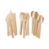 All Occasion Veneerware® Bamboo Knife, Fork, Spoon Sets