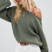 Free People Shadow Balloon Sleeve Sweater at asos.com