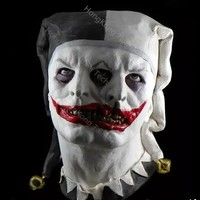 Cursed and Demented Two Faced Jester Mask Two Headed Masks Latex Horror