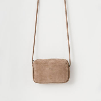 Leather Mini Purse Dune Suede