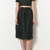 **LIMITED EDITION POPPY CROP AND MIDI SKIRT CO-ORD