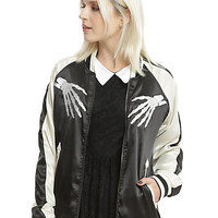 Tripp Reversible Girls Satin Bomber Jacket