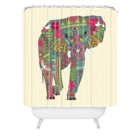 Sharon Turner Peace Elephant Shower Curtain