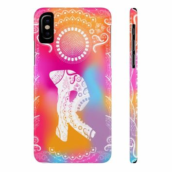 Monogram Collection- Boho- Choose your initial R Phone Case