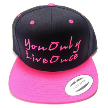 YOLO you only live once snapback by winteriscoming2012 on Etsy