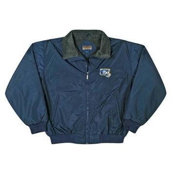 Richmond Riverdogs - Navy Logo Nylon Jacket W/ Fleece - 2X-Large