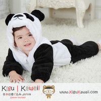 New Panda Round Eyes Baby Toddler Fleece Animal Newborn Kigurumi